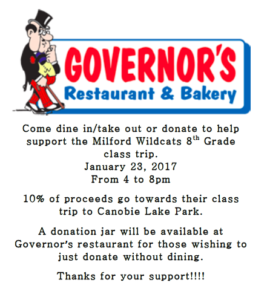 8th Grade Fundraiser Flyer